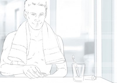 LassalMedia, storyboard pencils for Nivea for Men (Beiersdorf) / BootCamp Theme