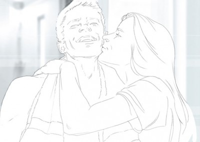 LassalMedia, storyboard pencils for Nivea for Men (Beiersdorf) / BootCamp Theme