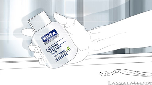 LassalMedia Nivea for Men, Ice Hockey themed storyboard frame (pencil)