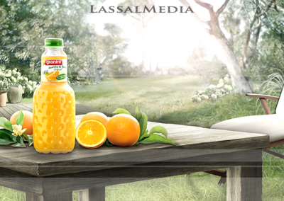 LassalMedia, animatic briefing & setting evolution for Granini.