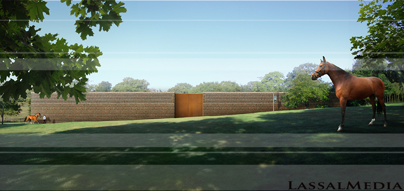 LassalMedia - Architecture Previsualization for A Horse Training Hall in England / Architect Anthony Hunt (AFTER)