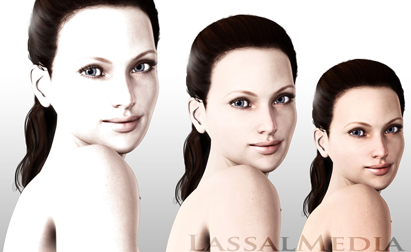 LassalMedia – photorealistic key visuals for a pitch in the beauty market segment.