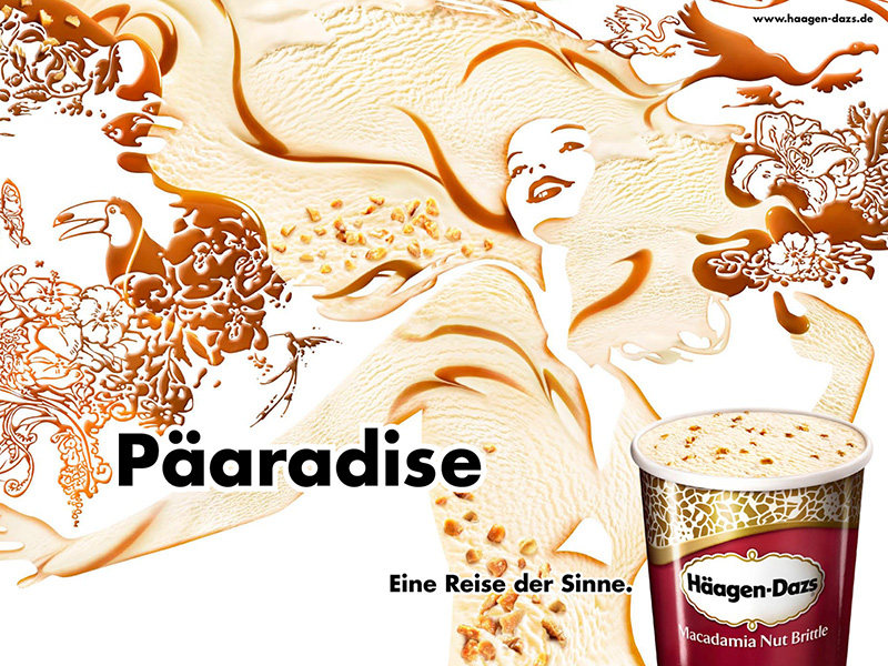 LassalMedia, final illustrations (masks) for a global Häagen-Dazs campaign