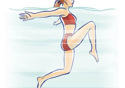 LassalMedia, editorial illustrations for AOK (wdv Verlag) – water gymnastics and more.