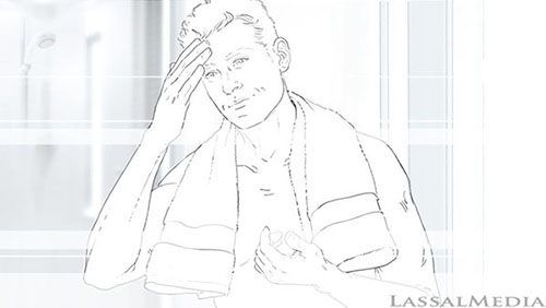 LassalMedia, storyboard pencils for Nivea for Men (Beiersdorf) / Soccer Theme