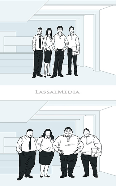 LassalMedia - one of several editorial illustrations for ergo unternehmenskommunikation