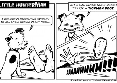 The adventures of Little Hunterman and his best friend Flynn, the rubber duck