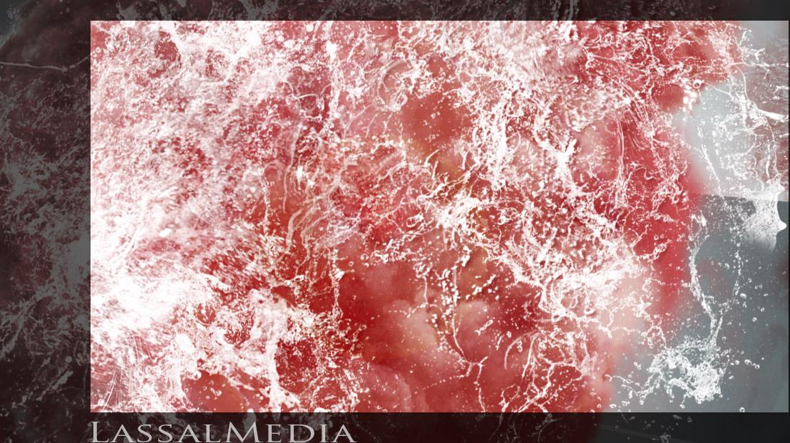 Lassalmedia - pink realistic waterfall 03 (Animatic illustration)
