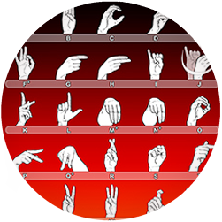 Poster with Sign Languag Alphabet for FingerAlphabet.org
