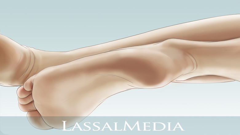 LassalMedia - Feet on light blue background, Animatic Layer for Scholl