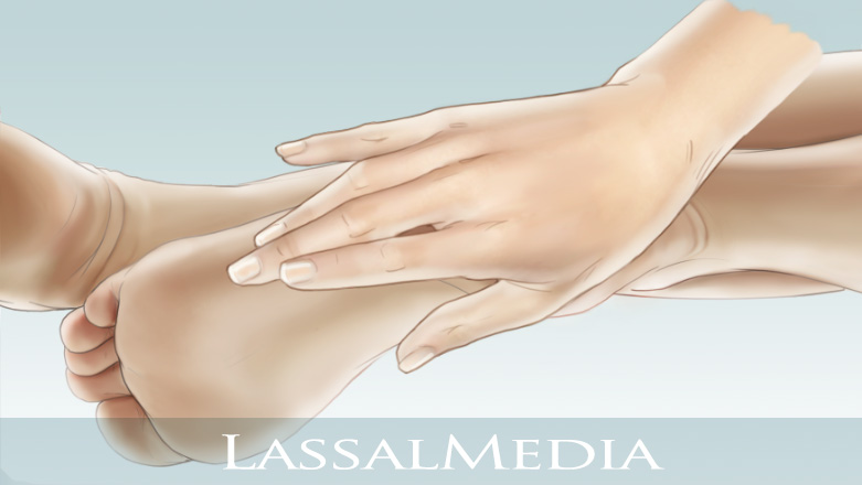 LassalMedia - Feet and caressing hand on light blue background, Animatic Layer for Scholl