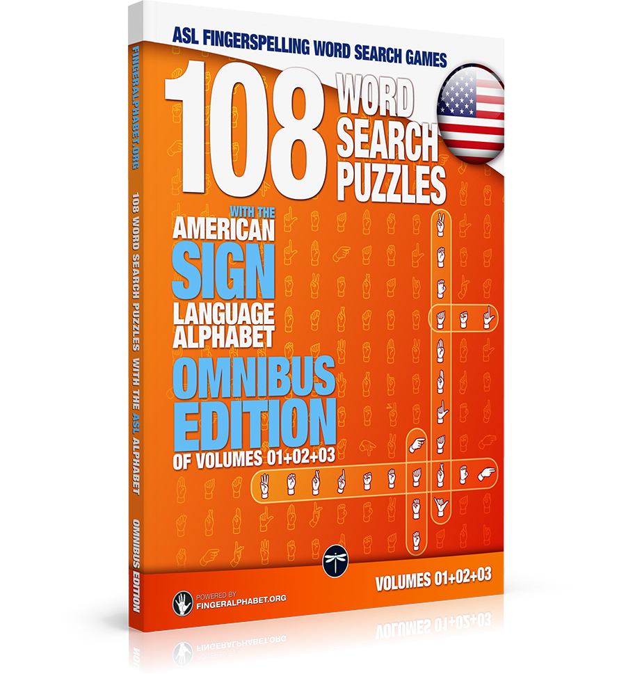 36 Word Search Puzzles with the American Sign Language Alphabet: Volume 01