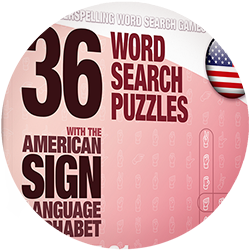 ASL Word Search Puzzle Books for Adults