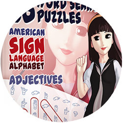 ASL Word Search Puzzle Books for Kids