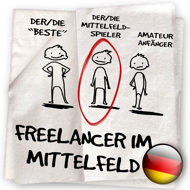 Serviette 07 – LassalMedia Business Lounge Training: Freelancer im Mittelfeld – damals & heute