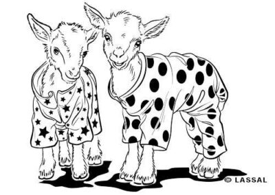 LittleHunterman-pajama-goats